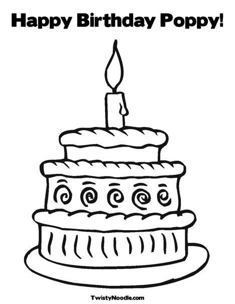 Happy Birthday Poppy Coloring Pages | 43 best kids coloring pages images on pinterest coloring