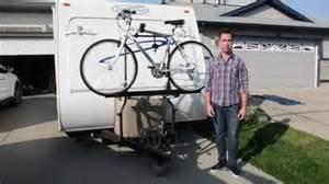 Trailer Bike Rack For Sale by Arvika Rv Bike Rack Travel Trailer Installation Demo