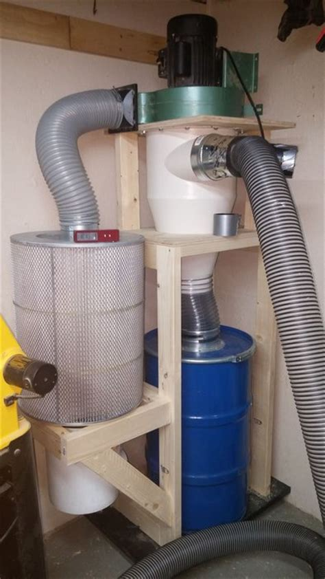 cyclone dust collector reviews woodworking review upgrading hf dust collector to cyclone with