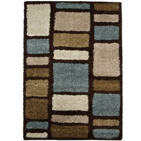 9 Ft Rugs by Orian Rugs Moodie Blues Brown 6 Ft 7 In X 9 Ft 8 In