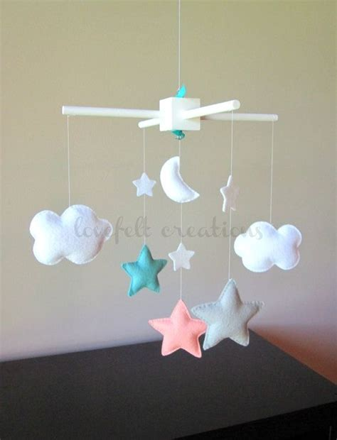 Custom Crib Mobile by Baby Crib Mobile Baby Mobile Aqua Coral Mobile