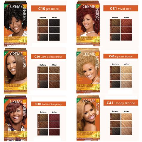 creme of nature hair color chart creme of nature hair dye color chart hairstyle