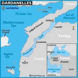 strait map dardanelles strait