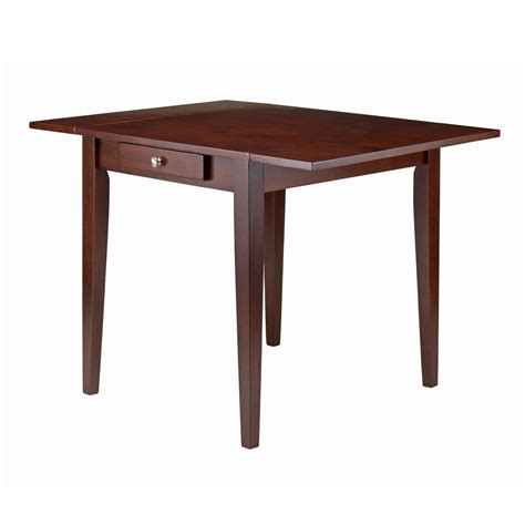 walnut drop leaf table winsome wood hamilton walnut drop leaf dining table