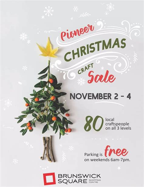 pioneer christmas craft sale uptown saint john