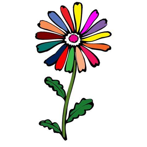 fiore disegno disegno di fiore margherita a colori per bambini