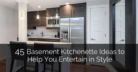 45 Basement Kitchenette Ideas To Help You Entertain In | 45 basement kitchenette ideas to help you entertain in