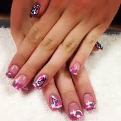 awesome pink camo nails nail art pinterest