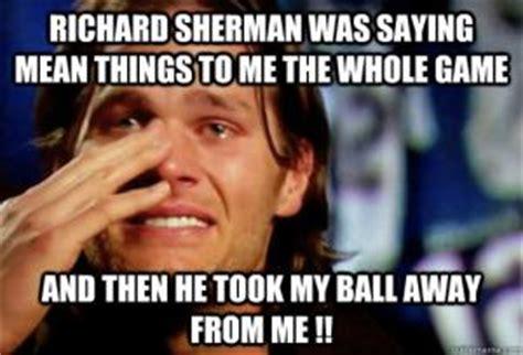Sherman Meme - richard sherman tom brady meme