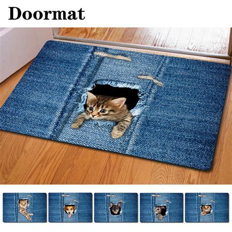 animal floor rugs fashion kawaii welcome floor mats animal cat print bathroom kitchen carpet house