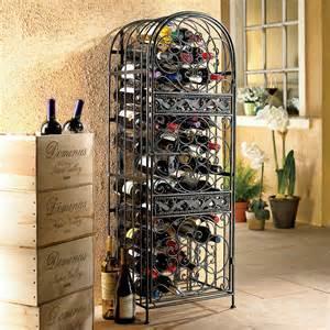 Wine Barrel Liquor Cabinet Renaissance Wrought Iron Wine Jail 45 Bottles Vino Grotto
