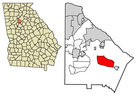 Dekalb County Ga Search File Dekalb County Incorporated And Unincorporated Areas Redan Highlighted