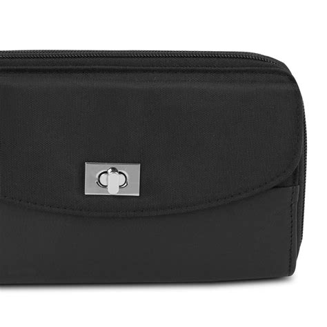 Accent Wallet travelon safeid accent zip clutch wallet black ebay
