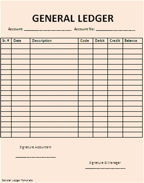 general ledger template beepmunk