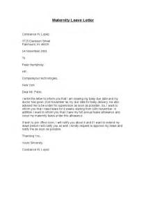 Letter Of Maternity To Employer Template maternity leave letter hashdoc