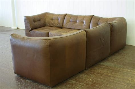5 piece leather sectional sofa vintage de sede 5 piece leather sofa at 1stdibs