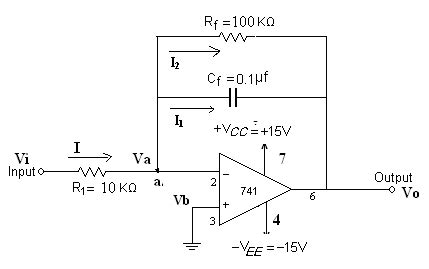 circuit diagram of integrator and differentiator using op ic applications and hdl simulation lab notes integrator and differentiator using ic 741 op