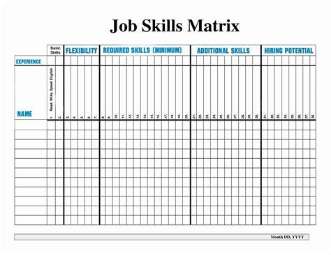 matrix template skills matrix spreadsheet best of free employee