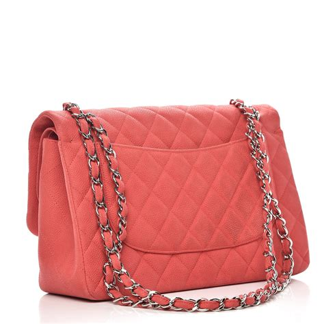 Chanel Jumbo Coral chanel iridescent caviar quilted jumbo flap coral 239817