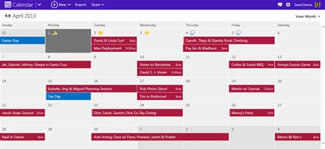 My Calendars Outlook Take Of Your Schedule With A Modern Calendar