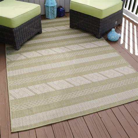 Aztec Outdoor Rug Lavish Home Aztec Stripe Indoor Outdoor Area Rug Green 5 X7 7 Quot