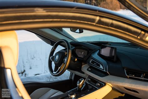 bmw inside view first drive bmw i8 on a winter day