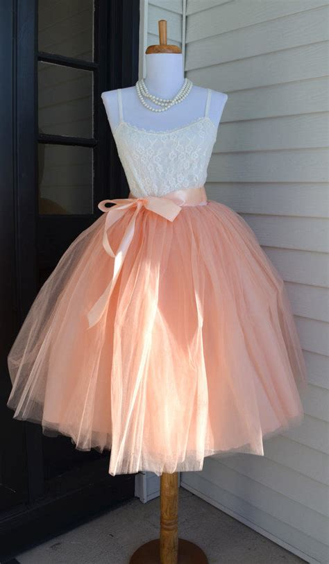 womens tutu blush pink tulle skirt pale from