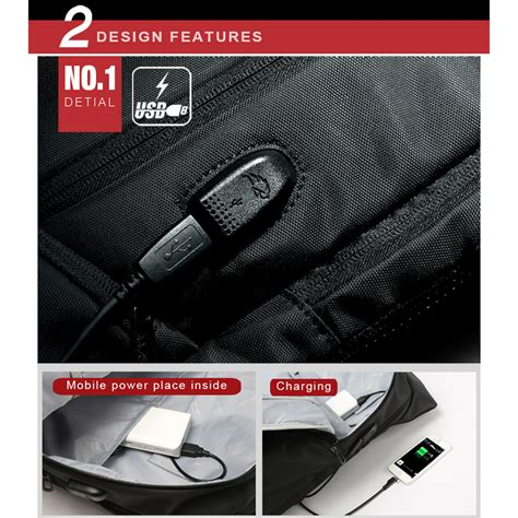 Tas Ransel Usb kingsons tas ransel laptop dengan usb charger black