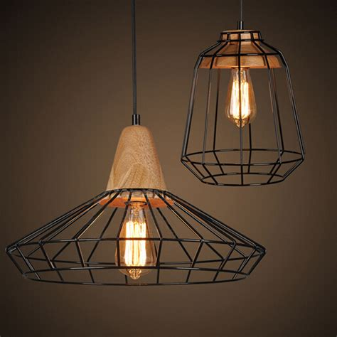black metal l shade modern industrial black metal cage pendant light shade