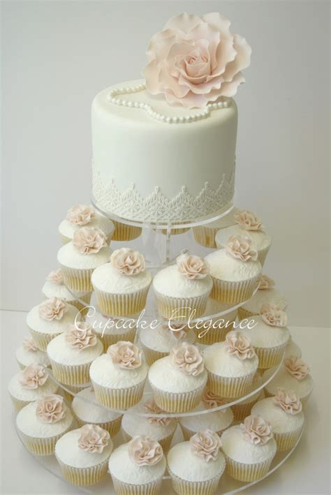 Wedding Cake With Cupcakes by Wedding Cakes Cupcake Elegance Brisbane