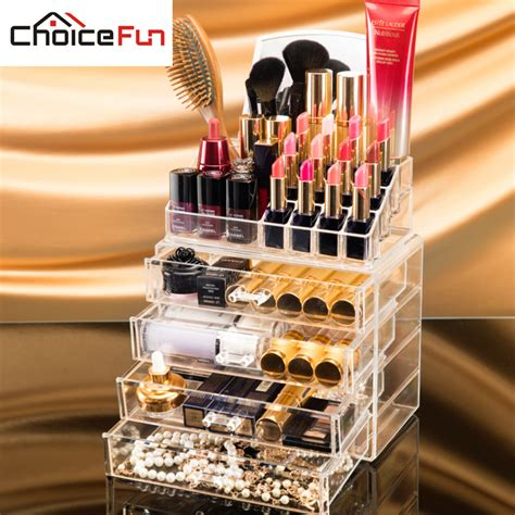 Clear Plastic Drawers For Makeup by Aliexpress Buy Choicefun 4 Drawers Acrylic Makeup