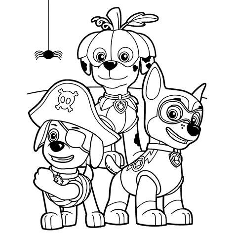dibujos para pintar patrulla canina dibujos de la patrulla canina para colorear paw patrol