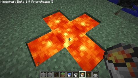 minecraft how to make an infinite lava source 1 9 pre