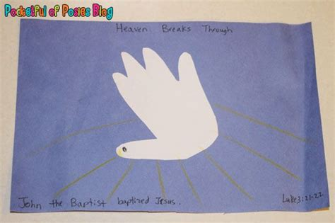 baptist crafts for sunday school crafts jesus baptism handprint dove