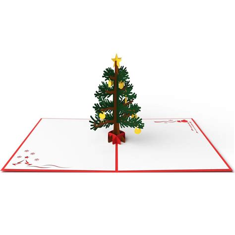 3d christmas tree pop up card lovepop