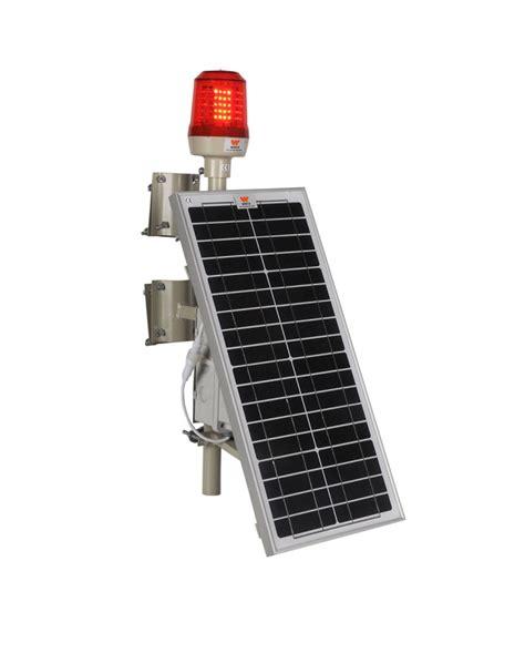Wetra Single Solar Powered Low Intensity Aviation Solar Obstruction Light