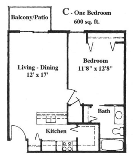 Apartment With 600 Square Feet 600 To 800 Square Foot House Plans