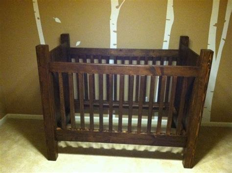 Handmade Baby Furniture - handmade rustic style solid wood crib stain on etsy