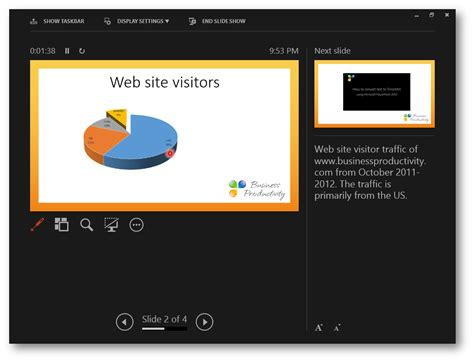 Powerpoint Presenter Tech Of The Town Presenter View In Powerpoint 2013