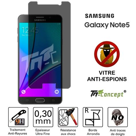 Anti Gravitasi Samsung Galaxy Note 5 vitre de protection teint 233 e anti espions samsung note 5 tm concept 174