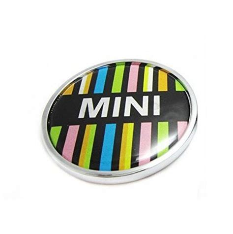 Tempelan Emblem Badge Mini mini cooper emblem to grille colored logo sticker styling car auto badge emblems