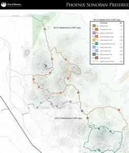 sonoran desert arizona map dixie mountain loop sonoran preserve hiking arizona