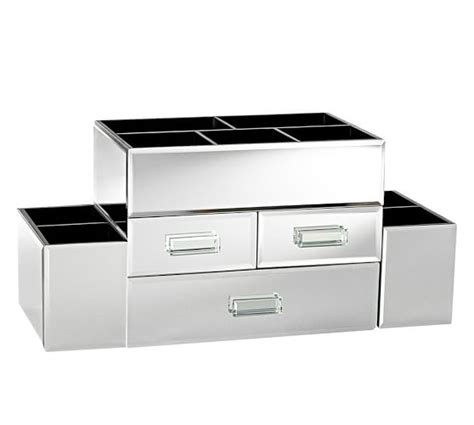 Mirrored Makeup Drawers by Mirrored Makeup Storage Pottery Barn