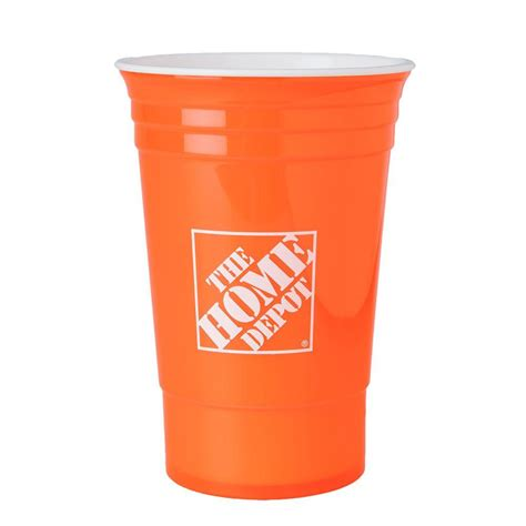 the home depot 16 oz home depot cup in orange 1301621 00