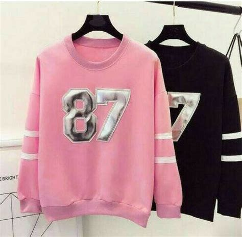 Atasan Wanita Polos Kalung Bulu Lucu jual sweater 87 hrz baju remaja sweater printing