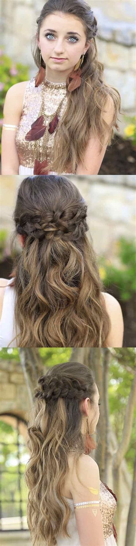 hairstyles left down 25 easy half up half down hairstyle tutorials for prom
