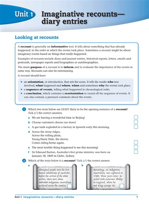 Recount Exle by Excel Advanced Skills Writing Workbook Year 5 Pascal