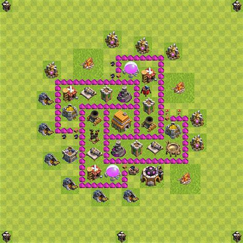layout level 6 town hall clash of clans base plan layout for trophies town hall