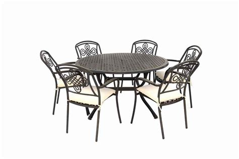 Cast Aluminum Patio Furniture Sets Brompton Metal Garden Round Set Garden Furniture Compare