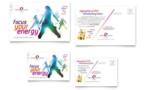 studio post card template studio postcard template design
